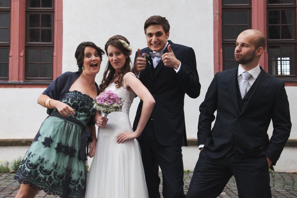 Brautpaar-Trauzeugen