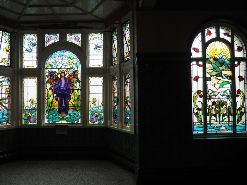 Victoria Baths stained glass